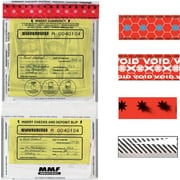 """MMF Industries™ Twin Tamper-Evident Deposit Bags, Clear, 9-1/2"""" x 17"""""""