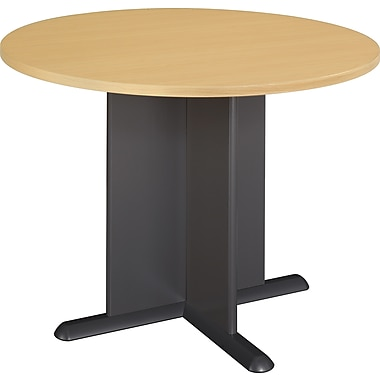 Bush 42in. Round Melamine Conference Tables, Fully Assembled