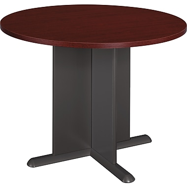 Bush Westfield 42in. Round Conference Table, Cherry Mahogany
