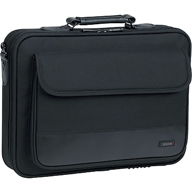 SOLO® Classic Collection Laptop Case, Black, 15.4in.