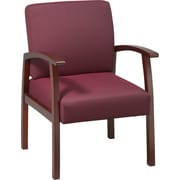 Office Star™ Ruby Fabric with Cherry Finish Wood Guest Chair