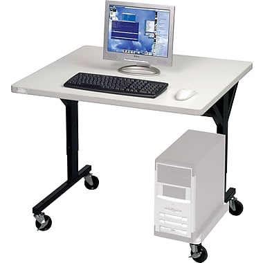Balt® Brawny 36in. x 30in. Mobile Computer Desk, Gray