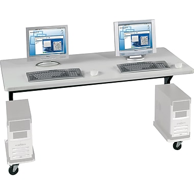 Balt® Brawny 60in. x 30in. Mobile Computer Desk, Gray