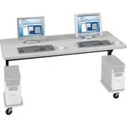 "Balt® Brawny 60"" x 30"" Mobile Computer Desk, Gray"