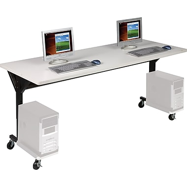 Balt® Brawny 72in. x 30in. Mobile Computer Desk, Gray