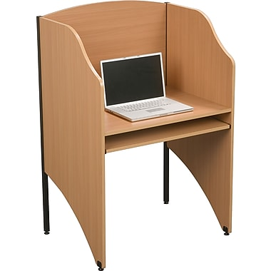 Balt 89868 Floor Carrel & Add-A-Carrel Privacy Carrels, Teak