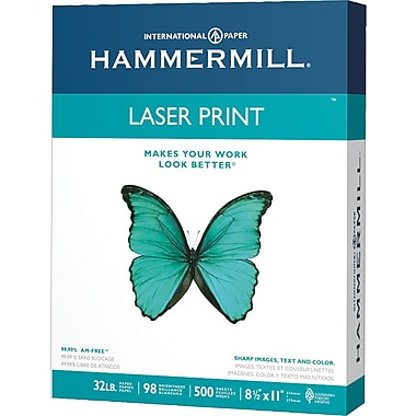 HammerMill® Heavyweight Laser Print Paper, 32 lb., 8 1/2in. x 11in., Ream