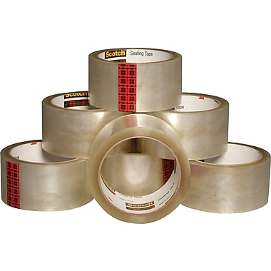 Scotch™ Package Sealing Tape 3710, 48 mm x 50 m, Clear, 24-Pack