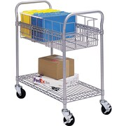 """Safco® 24"""" Steel Mail Cart"""