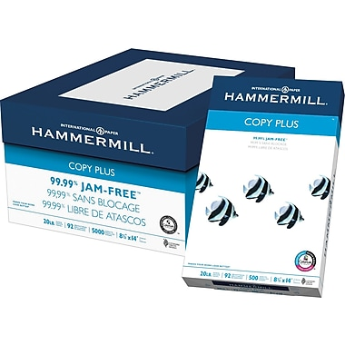 HammerMill Copy Plus Copy Paper, 8 1/2in. x 14in., Case