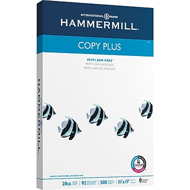 HammerMill Copy Plus Copy Paper, 11in. x 17in., Ream