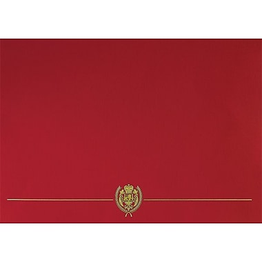 Great Papers® Classic Crest Certificate Holder, Red, 5/Pack