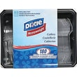Dixie® Plastic Cutlery Keeper, Assorted Forks, Knives & Spoons, Clear, 180/Pack