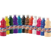 Prang® Ready-to-Use Tempera Paint, 16 oz, Assorted, 12/Pack (21696)