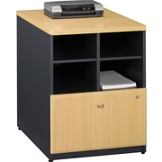 Bush® Cubix 24 Storage Cabinet, Euro Beech/Slate Gray, Fully assembled