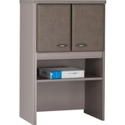Bush® Cubix 24 Storage Hutch, Pewter/White Spectrum, Fully Assembled
