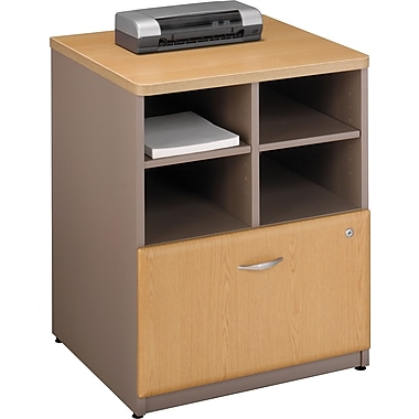 Bush® Cubix 24in. Storage Cabinet, Light Oak/Sage, Fully assembled