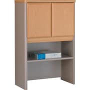 Bush® Cubix 24 Storage Hutch, Danish Oak/Sage, Fully assembled