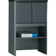 Bush® Cubix 24 Storage Hutch, Slate Gray/White Spectrum