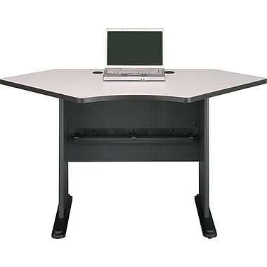 Bush® Cubix 42in. Corner Desk, Slate Gray/White Spectrum
