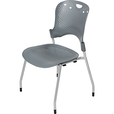 Balt® Circulation Stacking Chairs, Gray, 4/Pack