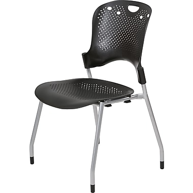 Balt ® Plastic Circulation Stack Chair, Black