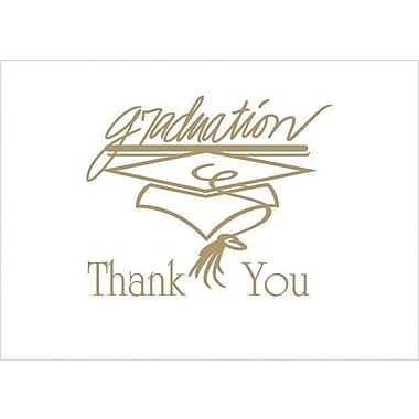 Graduation Thank You Cards,Gold
