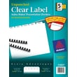 Avery Index Maker Clear Label Tab Dividers, 5-Tab Unpunched, White,  5 Sets/Pack