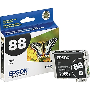 Epson® 88 (T088120) Black Ink Cartridge