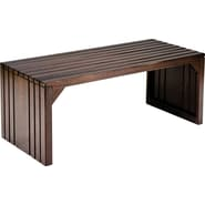 SEI Solid Wood Slat Bench
