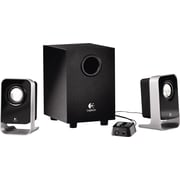 Logitech LS21 Multimedia Speakers and Subwoofer for Multiple Devices, Black/Silver (980-000058)