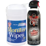 Dust-Off Monitor Wipes and Duster Combo