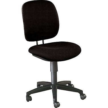 HON® Comfortask® Fabric Task/Swivel Chair, Black