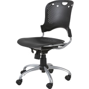 Balt Circulation Plastic Computer and Desk Office Chair, Armless, Black (34552)