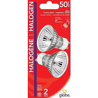 Globe – Ampoules à halogène GU10 de 50 W, incolore, paq./2