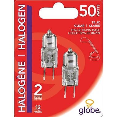 Globe G4 Halogen Bulbs, 50W, 2/Pack