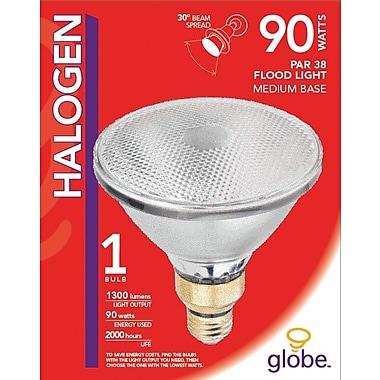 Globe PAR38 Halogen Floodlight, 90W, Clear