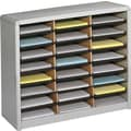 Safco® Value Sorter Literature Organizer, 24 Compartment, 32 1/4in. x 13 1/2in.x 25 3/4in., Gray