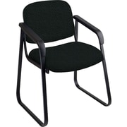 Office Star™ Custom Sled Base Guest Chair with Arms, Jet