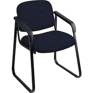 Office Star™ Custom Sled Base Guest Chair with Arms, Midnight Blue