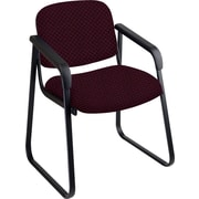 Office Star™ Custom Sled Base Guest Chair with Arms, Ruby