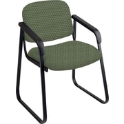 Office Star™ Custom Sled Base Guest Chair with Arms, Moss