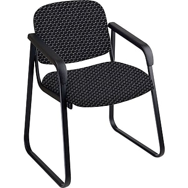 Office Star™ Custom Sled Base Guest Chair with Arms, Graphite