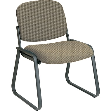 Office Star™ Custom Sled Base Armless Guest Chair, Gold Dust