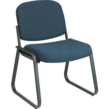 Office Star™ Custom Sled Base Armless Guest Chair, Blue Galaxy