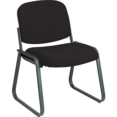 Office Star™ Custom Sled Base Armless Guest Chair, Jet