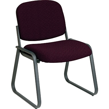 Office Star™ Custom Sled Base Armless Guest Chair, Ruby