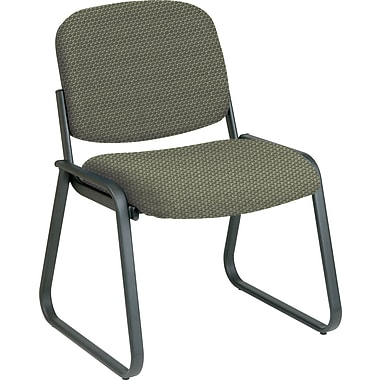 Office Star™ Custom Sled Base Armless Guest Chair, Moss