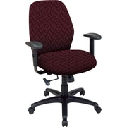 Office Star™ 2-to-1 Fabric Manager's Chair, Burgundy