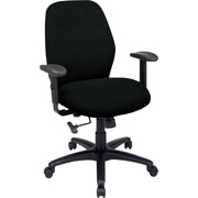 Office Star™ 2-to-1 Fabric Manager's Chair, Black